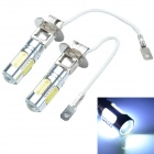 CHEERLINK H3-H5W H3 7.5W 450lm 5-LED White Light Car Foglight - Yellow + Silver (12V / 2 PCS)