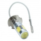CHEERLINK H3-H5W H3 7.5W 450lm voiture White Light 5 LED Foglight - Argent Jaune + (12V / 2 PCS)
