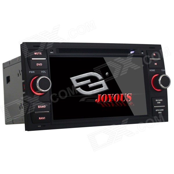 Joyous 7 Car DVD Player w/ Analog TV, GPS for Ford Focus S-AMX C-MAX Fiesta Transit Kuga(2004-2008) автомобильный dvd плеер joyous kd 7 800 480 2 din 4 4 gps navi toyota rav4 4 4 dvd dual core rds wifi 3g