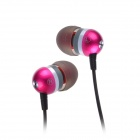 Jolly roger E200 In-Ear Earphone for PC / MP3 / TV / Phone - Deep Pink (3.5mm Plug / 125cm-Cable)