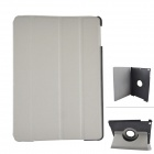 360 Degree Rotation Protective PU Leather Case Stand w/ Auto Sleep Cover for Ipad AIR - Grey + Black