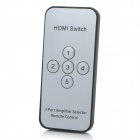 5-Port HDMI Switch with IR Remote Controller w/ 5-in 1-out - Black
