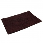 Anti-slip Water Absorption Soft Plush Bedroom Carpet Doormat - Deep Brown (Size-L)