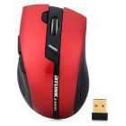 Jiayibing M3 2.4GHz USB 2.0 1600dpi Dual-mode Wireless Optical Mouse - Black + Red (1 x AA)