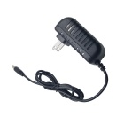 AC Power Supply Adapter for Monitoring Service - Black (US Plugs / 5.5 x 2.1mm / AC 100~240V)