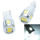 CHETAILANG T10 3W 260lm 6 x SMD 5730 LED White Car Clearance Light / Reading Lamp - (2 PCS / 12V)