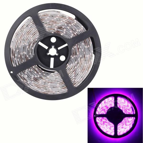 Waterproof 90W 7200lm 300 x SMD 5630 LED Pink Flexible Car Decoration Strip Light - (5m / DC 12V) 27w 2160lm 90 smd 5630 led white light car decoration light strip black yellow 90cm 2 pcs