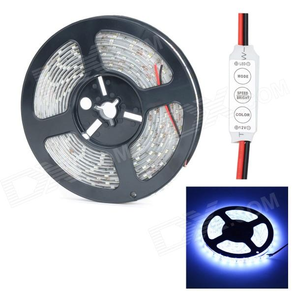 HML Waterproof 72W 9000lm 10000K 300 x SMD 5630 LED Cool White Light LED Strip w/ Mini Controller freeshipping martin strobe light controller box mini size blinder effect single flash channels push stage lighting controller