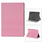 Stylish Flip Open PU + Plastic Case w/ Holder + Auto Sleep for Ipad AIR - Pink