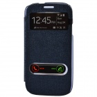 TEMEI PU Leather Case Cover w/ Visual Window / Slide to Unlock for Samsung Galaxy S3 i9300 - Purple