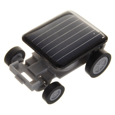 World's Smallest Solar Powered Car - Black