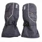 Men's Outdoor Warm Windproof And Waterproof Ski Gloves - Black