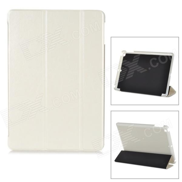 Protective 3-Section Folding PU Leather Case w/ Auto Sleep for Ipad AIR - White