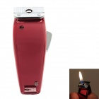 Creative Shaver Style Mini Windproof Metal lighter - Red