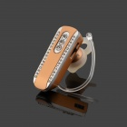 SAENKDEA 518 Bluetooth V3. 0+EDR Diamond-studded Music Bluetooth Headset - Champagne Gold + Silver