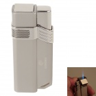 COHIBA H063B Fashionable Super Fire Windproof Butane Jet Flame Lighter - Silver