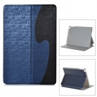 'S'' Style Protective PU Leather + Plastic Flip Open Case w/ Stand + Auto Sleep for Ipad AIR