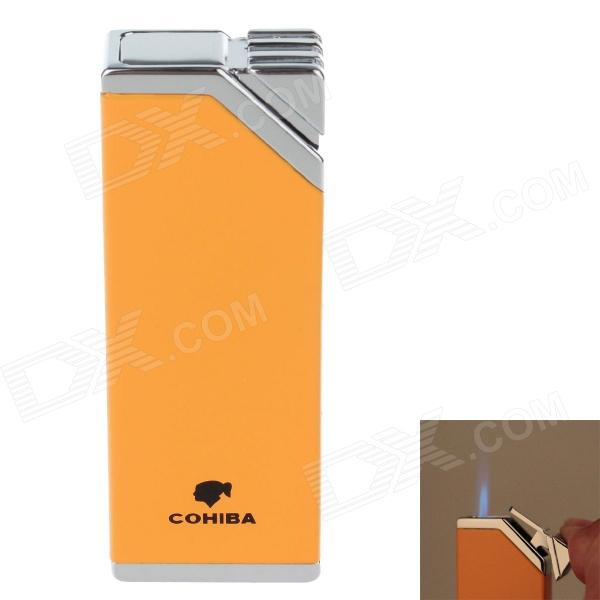 COHIBA H026A Super Fire Windproof Butane Jet Flame Lighter - Yellow + Silver seiko часы seiko sur131p1 коллекция seiko lord