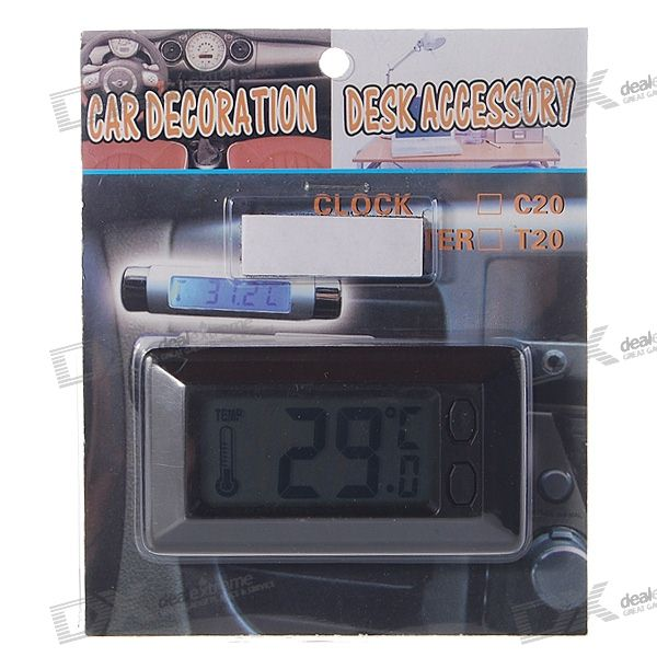 Slim Digital LCD Thermometer (1*AG10)