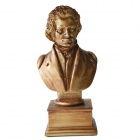DEDO-Statue Gifts-MG-292 Musicians Statue Beethoven Resin Statue Colophony Artwork - Golden + Brown