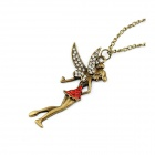 Fashionable Vintage Spirit Angle Pattern Necklace - Bronze