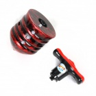 5-LED RGB Flashing Music Gyroscope - Dark Red + Black (6 x AG13)