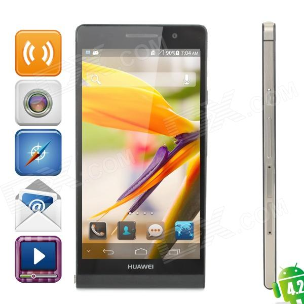 HUAWEI Ascend P6 Quad-Core Android 4.2 WCDMA Bar Phone w/ 4.7 Screen, Wi-Fi, RAM 2GB and ROM 8GB huawei ascend p7 android os 4 4 quad core bar phone w 5 0 13mp camera ram 2gb rom 16gb black