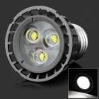 HML High Quality E27 4W 360lm 6000K 3-LED White Spot Light Lamp Bulb - (85~265V)