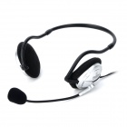 DICSONG CD-540 Wired 3.5mm Back Headset Headphone - Black + Silver