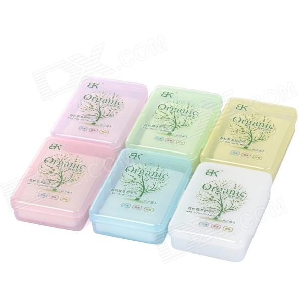 BK X-61 Nail Polish Remover Wet Wipes