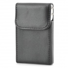 YB-02 Creative PU Leather  Business Card Holder - Black