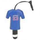 23 Jordan Sports T-shirt Style Stylus + 3.5mm Anti-dust Plug for Iphone / Samsung + More - Blue