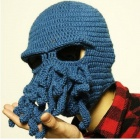 PANNOVO Hand-made Cute Octopus Outdoor Thermal Windproof Caddice Balaclava Helmet Cap Hats