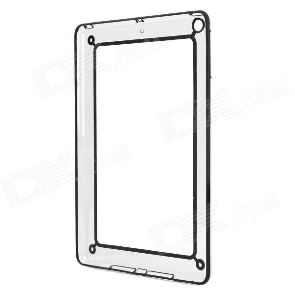Protective Plastic + Silicone Bumper Frame Case for Ipad AIR - Transparent + Black