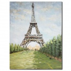Iarts Effiel Tower Pattern Hand Oil Painting - Multicolored