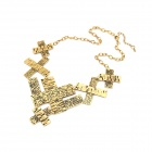 Fashionable Vintage Crosses Pattern Necklace - Antique Copper