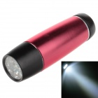 Small Sun ZY-718 80lm 6000K 9-LED White Light Flashlight - Red + Black (3 x AAA Battery )