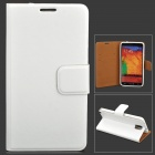 Protective PU Leather Case for Samsung Galaxy Note 3 - White
