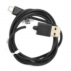 RIchino RS-M01 Micro USB Male to USB Male Data Cable w/ Waterproof Case - Black + Silver (92cm)