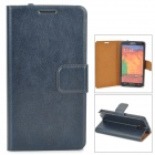Protective PU Leather Case for Samsung Galaxy Note III - Purplish Blue