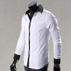 Men's Long-sleeved Shirt - White (XL)