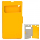 NILLKIN Protective PU Leather + PC Case for Sony L39h Xperia Z1 - Yellow