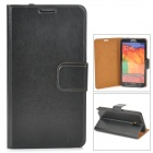 Stylish Protective PU Leather Case for Samsung Galaxy Note 3 - Black