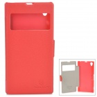NILLKIN Protective PU Leather + PC Case for Sony L39h Xperia Z1 - Red