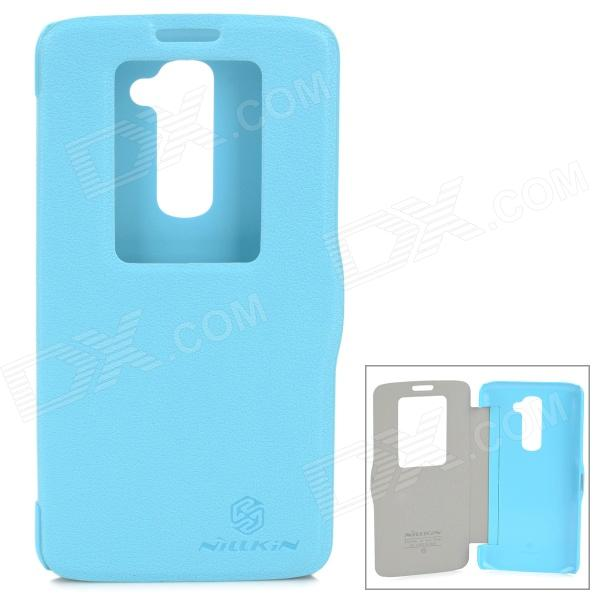 NILLKIN Protective PU Leather + PC Case for LG G2 D802 - Blue nillkin star series protective case for moto g2 pink