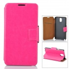 Protective PU Leather Case for Samsung Galaxy Note 3 - Deep Pink
