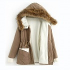 WZ-118 Women's Hooded Winter Cotton-Padded Clothes - Khaki (Free Size)