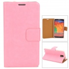 Protective PU Leather Case for Samsung Galaxy Note 3 - Pink