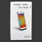 "Externo ""3800mAh"" Power Battery Charger Case Voltar para Samsung Galaxy Note 3 - Branco"