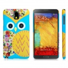 Cartoon Owl Pattern Protective Plastic Back Case for Samsung Galaxy Note 3 N9000 - Multicolored